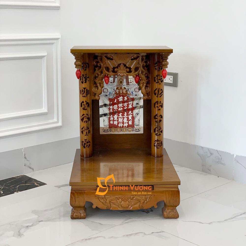 Bàn Thờ Thần Tài Gỗ Xoan MB Chân Quỳ Xoan MBX36
