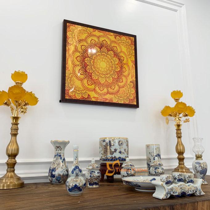 Bộ Bát Hương Vẽ Vàng Thờ Thần Linh BTL01VV