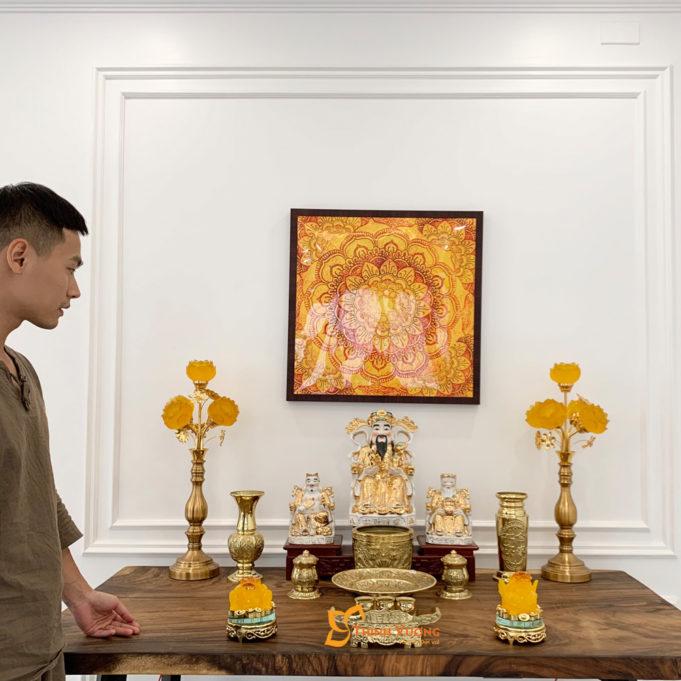 Bộ Đồ Thờ Thần Tài Bằng Đồng Vàng BTT01D