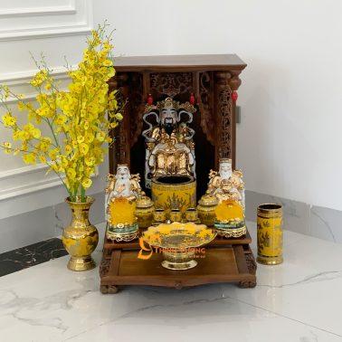 Ban thờ thần Tài gỗ Gụ MBG01KS