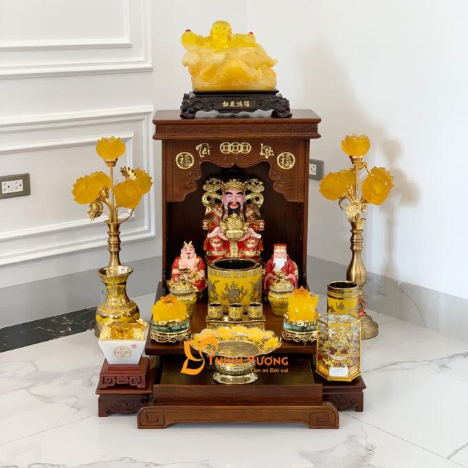 Bộ Bàn Thờ Thần Tài AH 41 Sồi Sứ Kim Sa HDAH01KS1