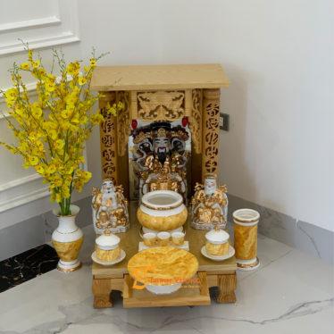 Bộ Bàn Thờ Thần Tài MB 36 Pơ Mu Sứ Vàng Đá DUVT01VD