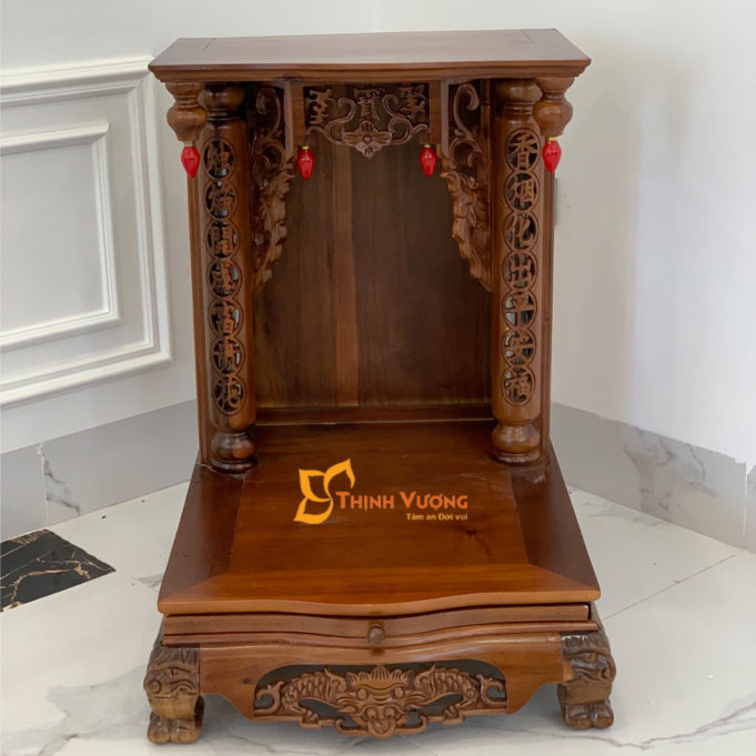 Bộ Bàn Thờ Thần Tài MB 41 Gụ Sứ Rạn Vàng MBG01RVV