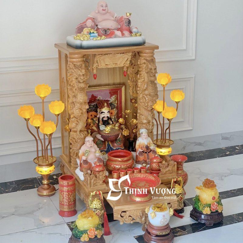 Lý do nên chọn lựa mua bàn thờ thần tài gỗ dõ đỏ tại bàn thờ Thịnh Vượng