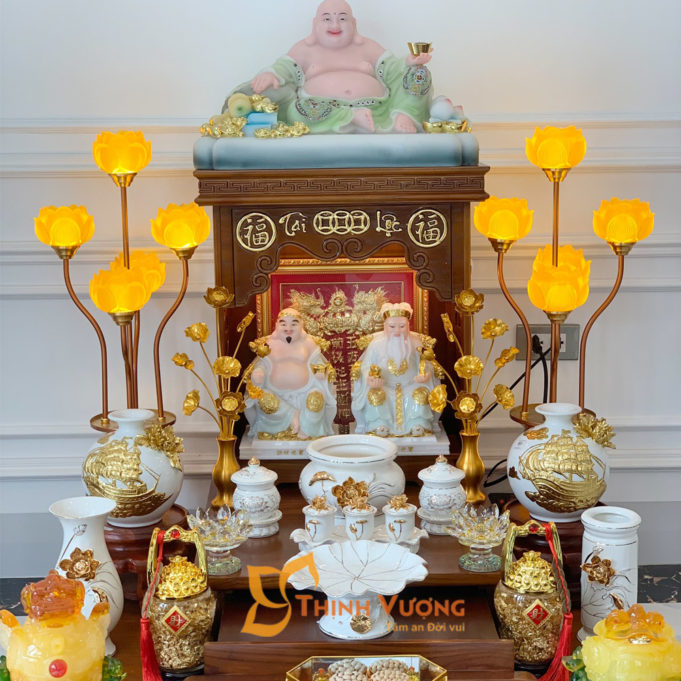 Các mẫu bàn thờ thần tài hiện đại đẹp