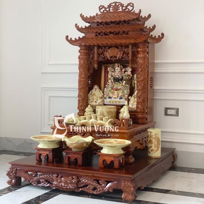 Cách thắp nhang trên bàn thờ ông địa thần tài