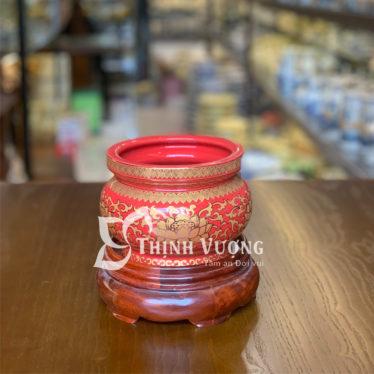 Địa chỉ mua bát hương gấm đỏ đẹp tại Hà Nội