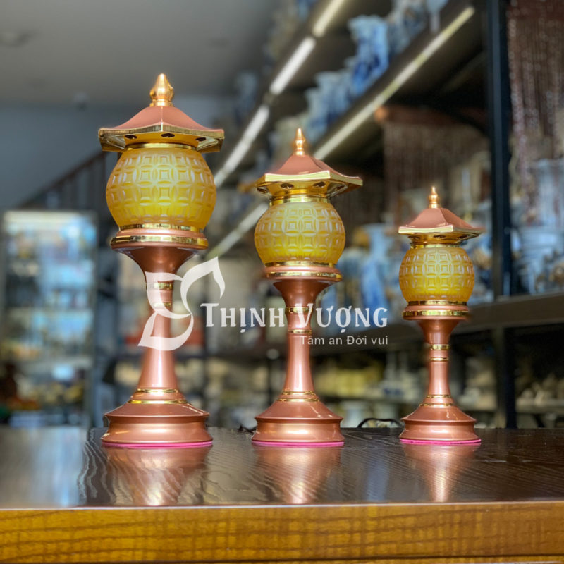 Đèn thờhoa sen 3 bông tại Hà Nội