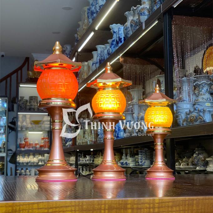 Đèn thờhoa sen 3 bông tại Sài Gòn