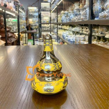 Nậm rượu thờ sứ kim sa giá rẻ tại Hà Nội