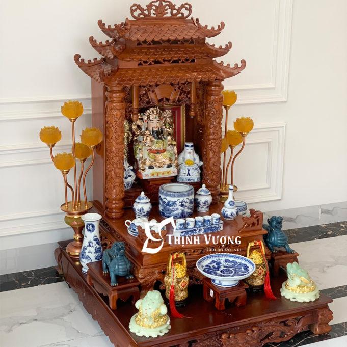 Bàn thờ thần tài thổ địa gỗ hương tại hà nội