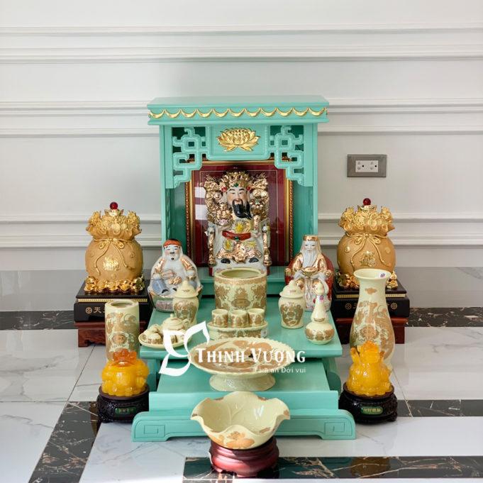 Mua bàn thờ thần tài giá rẻ sứ ngà 1