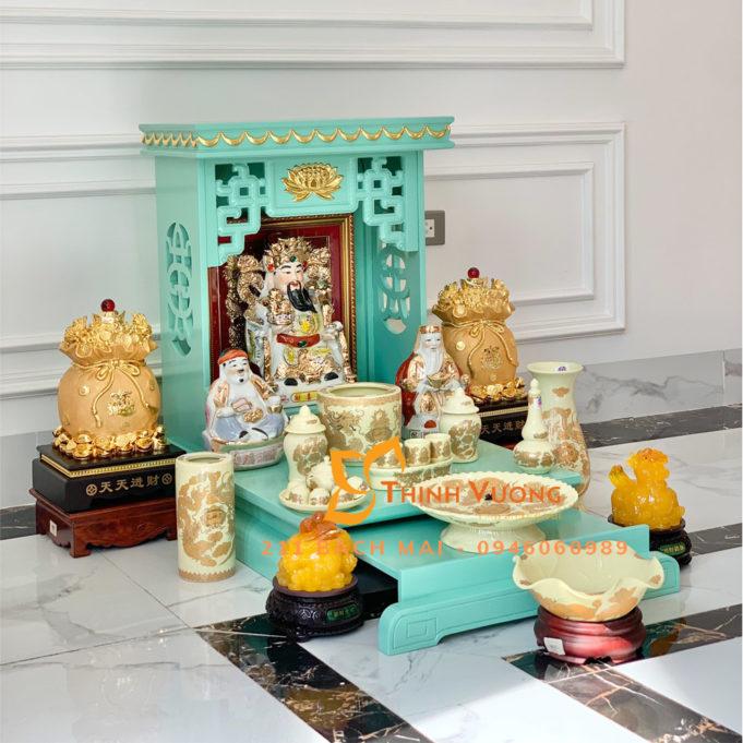Mua bàn thờ thần tài giá rẻ sứ ngà 5