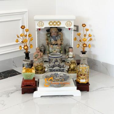 Bàn thờ thần tài chung cư đẹp tại Hà Nội