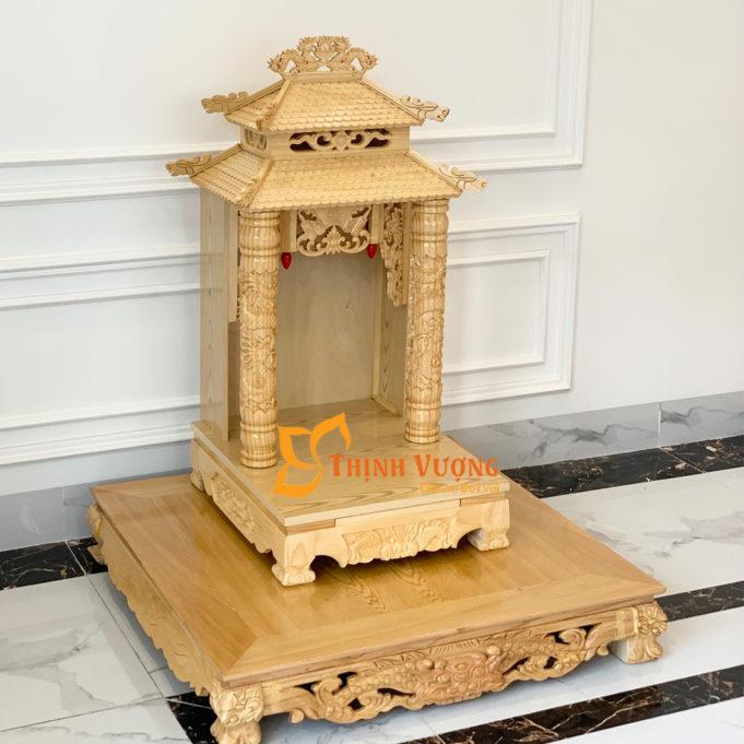 Bàn thờ thần tài mái chùa cao cấp