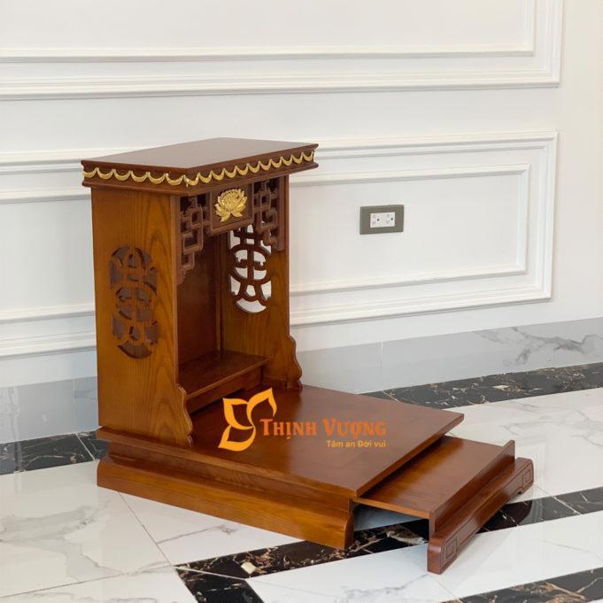 Mẫu bàn thờ thần tài có kích thước 48x48x68cm