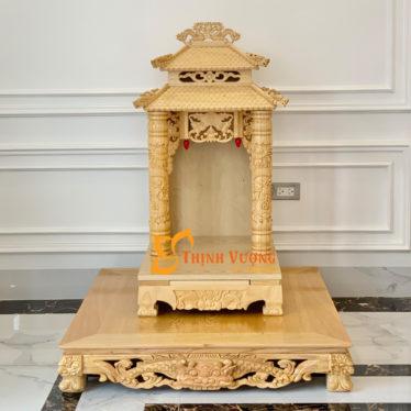 Bàn thờ thần tài mái chùa cao cấp hà nội