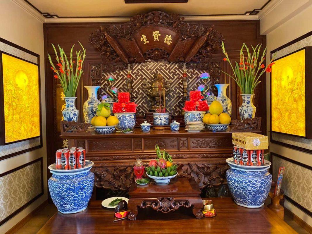 Cách bày bát hương trên bàn thờ chuẩn mang lại tài lộc